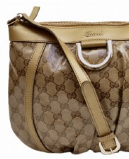 Gucci Cross Body Messenger Gold Crystal Collection