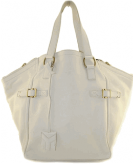 YSL Ivory Downtown Shoulder Bag