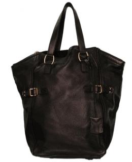 YSL Oversized YVES SAINT LAURENT Brown Downtown handbag designer purse shoulder bag