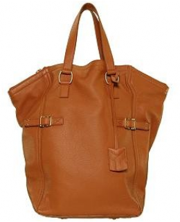 YSL Yves Saint Laurent Camel Tan Downtown Bag Tote