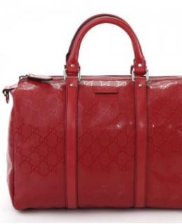 Gucci Boston Bag - Red Imprime