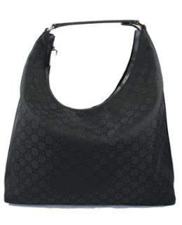 Gucci Handbags, Gucci Black Nylon Holiday Hobo