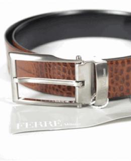 Ferre Milano Crocodile Leather Belt