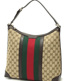 Gucci Vintage Web Hobo with Green/Red