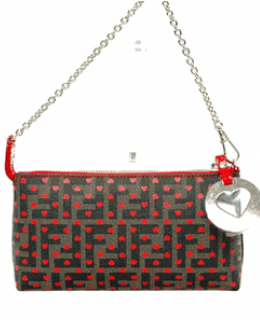 Fendi Heart Zucca Baguette Handbag