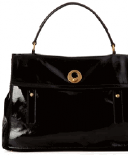 YSL Muse Two Black Patent Leather Large