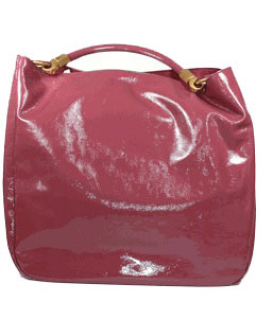YSL Roady Designer Tote Magenta Patent Leather