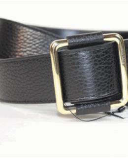 Gucci Gold Buckle Black Leather Belt