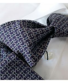 Gucci Purple Black and White Silk Tie
