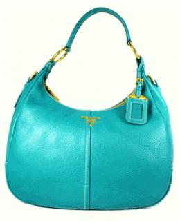 Prada Turquoise Vitello Daino Hobo
