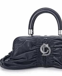 Black Leather Christian Dior Karenina Bag