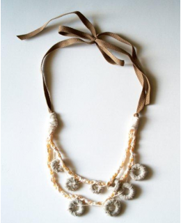 Anthro Knock Off- Fabric Marshmallow Necklace